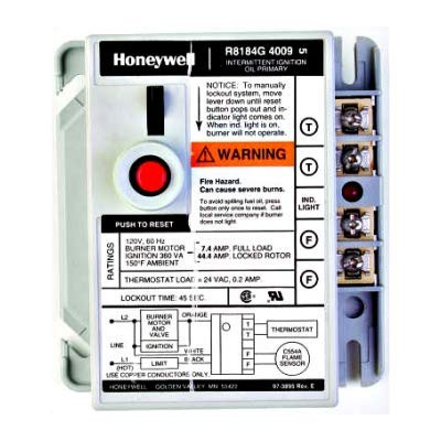 Honeywell R8184G4082 Protectorelay Oil Primary Burner Control 45 Sec