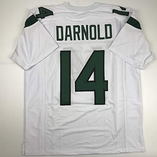 - Unsigned Sam Darnold New York 2019 White Custom Stitched Football Jersey Size XL New No Brands/Logos