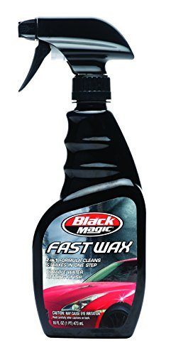 Wax Fast Spray Car (Black Magic 120025 2-in-1 Fast Wax Spray, 16 oz.)