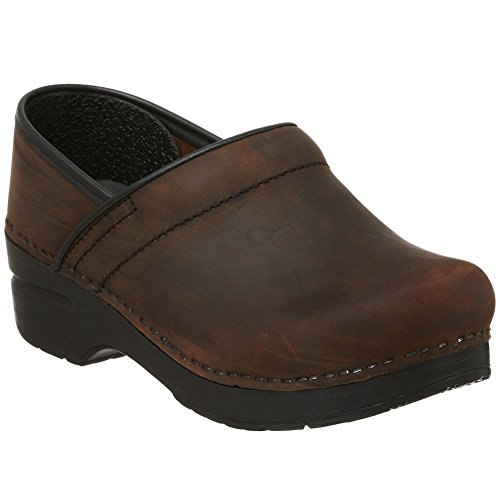 Dansko Professional Women Mules and Clogs Shoes, Antique Brown - Black Oiled, Size - 39