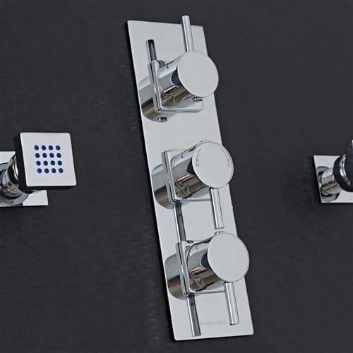 Lima Thermostatic Shower System 3 Way Mixer With 6 Body Spa Sprays Amazon Com