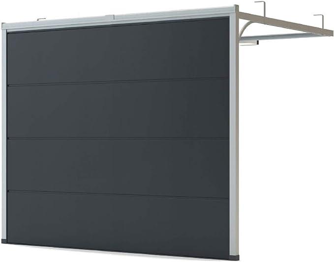 Puerta para garaje, puerta seccional, liso, antracita RAL 7016 ...