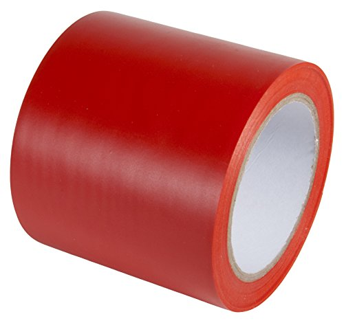 Marking Tape Red Aisle (INCOM Manufacturing: Vinyl Aisle Marking Tape - Abrasion Resistant, 4