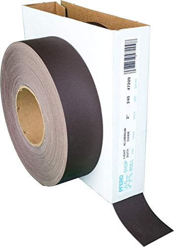 PFERD 47209 Flexible Light Duty Abrasive Shop Roll, Aluminum Oxide, 50 yd. Length x 2'' Width, 240 Grit