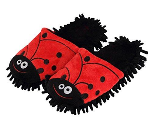 Cattior Dames Leuke Warme Grappige Slippers Huis Schoenen Rood