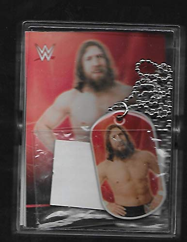 Daniel Bryan 2015 Topps WWE Dog Tag & Wrestling Card # 9 - Lot of 4 Wrestling Trading Cards - AJ Styles - Stored in a Protective Plastic Display Case!! Dog Tag Style Fan Tags