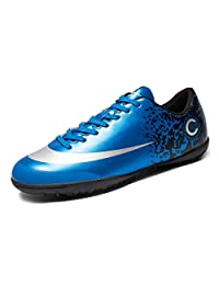 TieBao Youth Artificial-Turf TF Soccer Shoes Indoor Football Training Blue Lan-32729-7US/39