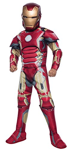 [Rubie's Costume Avengers 2 Age of Ultron Deluxe Iron Man Mark 43 Costume, Medium] (Child Avengers 2 Deluxe Ultron Costumes)
