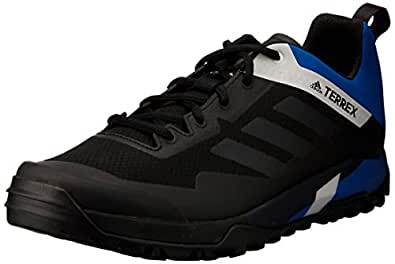 adidas Australia Men's Terrex Trail Cross SL Mountain Bike Shoes, Core Black/Carbon/Blue Beauty, 6.5 US