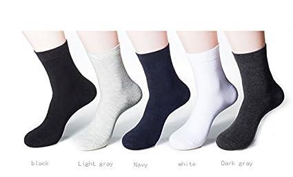 Amazon.com: 1Pair 3D Men Socks Socks Men Spring Solid Color MenS Socks Long White Business Male Human Calcetines Hombre^Dark Grey: Clothing