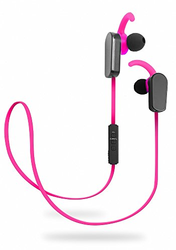 Jarv NMotion PLUS Sport Wireless Bluetooth 4.0 Stereo Earbuds w/ Built in Microphone and New Earfin Stabilizer Design - Pink