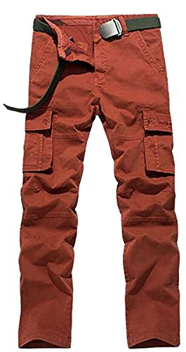 B dressy Men's Casual Silm Fit Cotton Military Cargo No Belt Work Pants (Wearables Cargo Jacket)