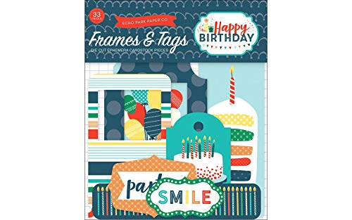 Echo Park Paper Company Happy Birthday Boy Frames & Tags Ephemera ()