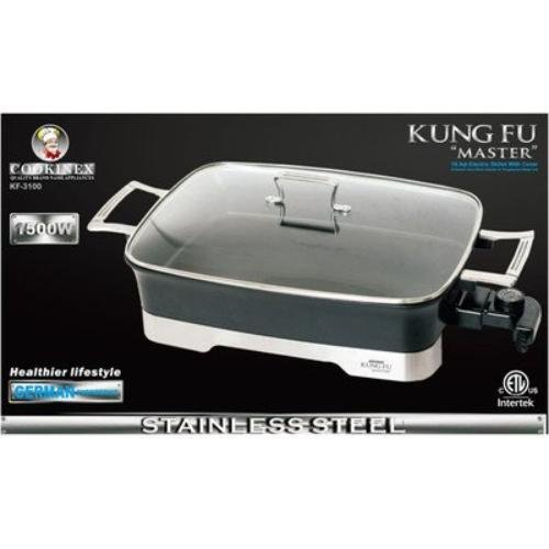Kung Fu Master 10.5-qt. Electric Skillet with Glass Lid Cookinex