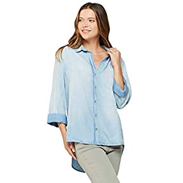 VELVET HEART 'Camisa' – Women's Chambray Button Down Shirt, Classic Denim Look.
