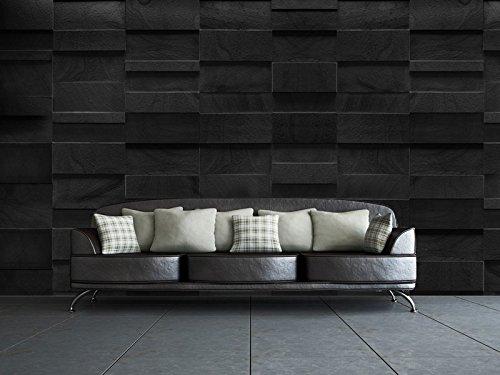 1-murales-la-Roca-Negro-Arte-de-la-pared-papel-pintado