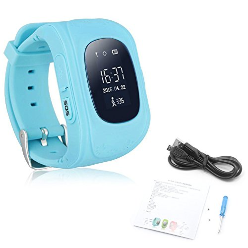 Price comparison product image Wrisky Q50 Anti-lost Children Safety Tracker Kids Smart Phone GPS Watch For Android/IOS
