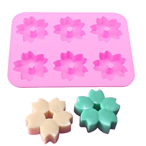 TraveT Cherry Blossom Silicone Fondant Cake Mold Chocolate Sugarcraft Soap Candy Moulds Cake Decorating Tool Baking Mold -
