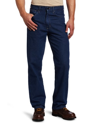 Carhartt Men's Flame Resistant Signature Denim Jean Relaxed Fit,Denim,35 x 30