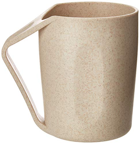 Light Wheat Six - MUFEI Retro Eco-friendly Wheat Straw Lightweight Cup Biodegradable Mug Plastic Tumbler for Water, Coffee, Milk (6 Cups.) (6)