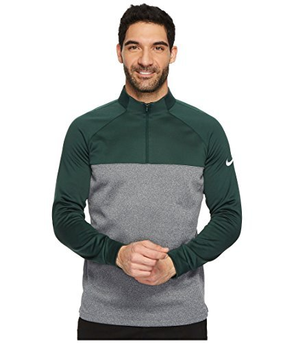 NIKE Therma Core Half-Zip Men's Golf Top (Pro Green/Dark Grey, Medium)