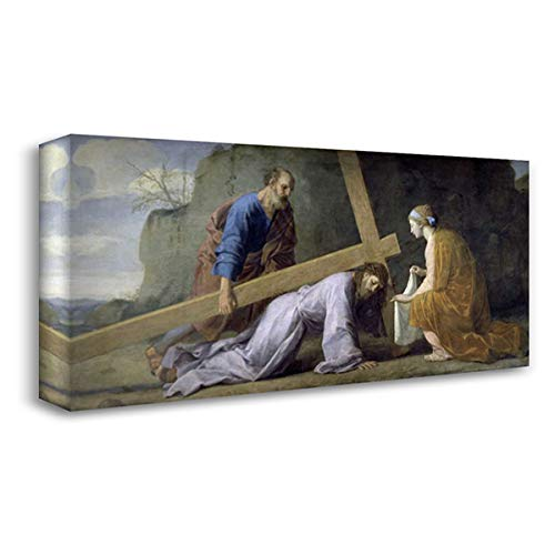 Jesus Carrying His Cross 50x24 Extra Large Gallery Wrapped Stretched Canvas Art by Le Sueur, Eustache ()