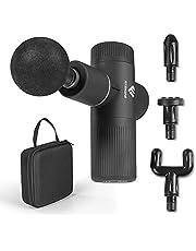 FitEngine Mini Massage Gun | 4 opzetstukken met 6 intensiteitsniveaus | massagepistool voor nek, kuiten, rugstrekker enz. voor gerichte spiermassage | incl. transportkoffer