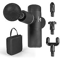 FitEngine Mini Massage Gun | 4 opzetstukken met 6 intensiteitsniveaus | massagepistool voor nek, kuiten, rugstrekker enz…