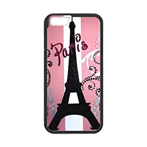Lovly Design Paris Eiffel Tower Pattern Phone Case, Custom Cartoon Apple Phone Case for iPhone6 4.7inch (Laser Technology) by lolosakes