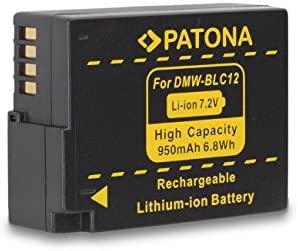 PATONA Cargador + Batería DMW-BLC12 E para Panasonic Lumix DMC-FZ200 FZ300 FZ1000 G5 G6 G70 GH2 GX8 GH6