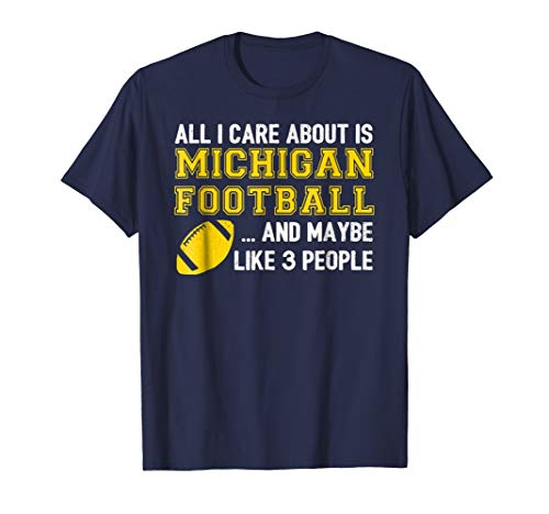 Michigan Game Day Funny Football T-Shirt (Game Day Football T-shirt)