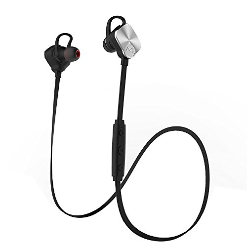 Mpow Magneto Wireless Bluetooth Headphones V4.1 Noise Cancelling Sweatproof Sport Headphones Stereo In-Ear Earbuds Magnetic Control Headset with Mic for Running Exercise