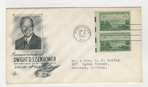United States, Postage Stamp, Cover Eisenhower Inauguration 1953 (C)