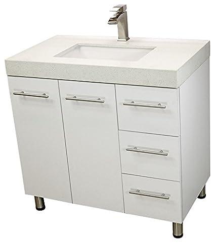Magnificent Windbay 36 Free Standing Bathroom Vanity Sink Set Vanities Sink White Download Free Architecture Designs Scobabritishbridgeorg
