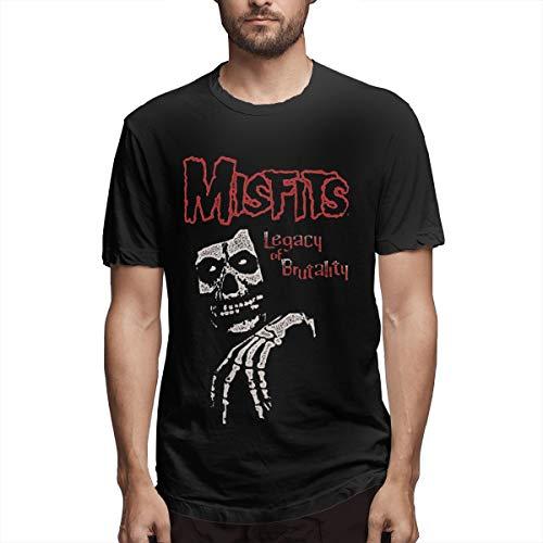 ZestyChef Men Misfits Legacy of Brutality Casual Short Sleeve Shirts -