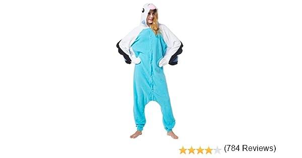 Katara (10+ Modelos) Kigurumi Pijamas Disfraz Animal Halloween Adultos Loro Azul Talla 175-185cm: Amazon.es: Juguetes y juegos