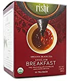 Rishi English Breakfast Tea, Organic Black Tea Satchet Bags, 15 Count