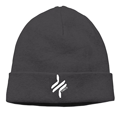 EWIED Men's&Women's American Rock Band Patch Beanie LeisureBlack Hats For Autumn And Winter