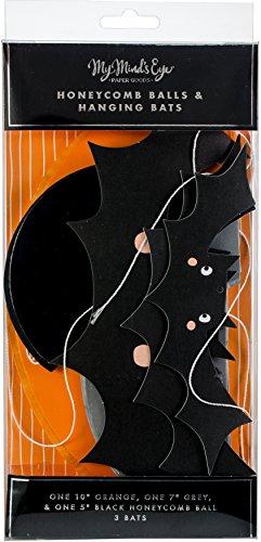 My Mind's Eye Halloween Honeycomb and Bat Décor ()