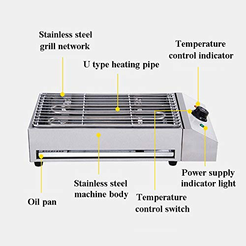 Commercial Home BBQ Desktop Electric Grill Stainless Steel Electric Grill Smokeless Electric Barbecue 220v