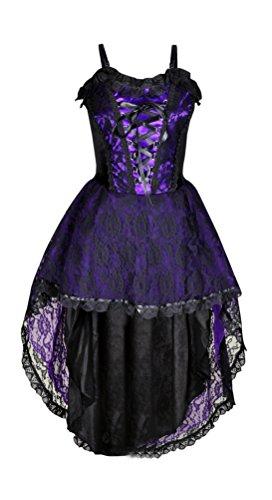 Halloween Korsett Schwarz langes Viktorianisch Gotisch Party Kleid Klein Größe Vampir Mädchen 1qOfPY