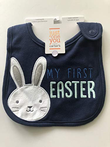 - Baby Boys' My First Easter Teething Bib with Snap Closure