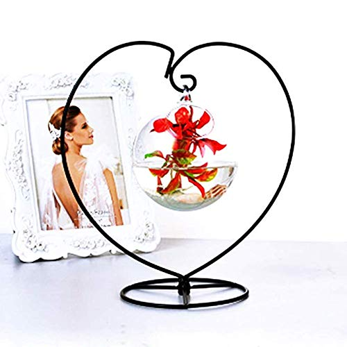 Archi Heart-shaped Ornament Display Stand Iron Pothook Stand for Hanging Glass Terrarium (Heart-1)