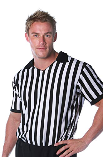 Underwraps Costumes Men's Referee Costume - Shirt, Black/White, -
