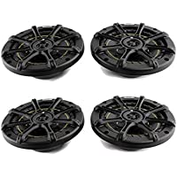 4) KICKER DS60 6.5 400 Watt 2-Way Car Coaxial Audio Speakers 11DS60 + Earbuds