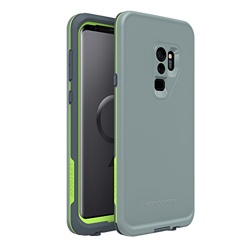 (Lifeproof FRĒ Series Waterproof Case for Samsung Galaxy S9+ - Retail Packaging - Drop in (Abyss/Lime/Stormy Weather))