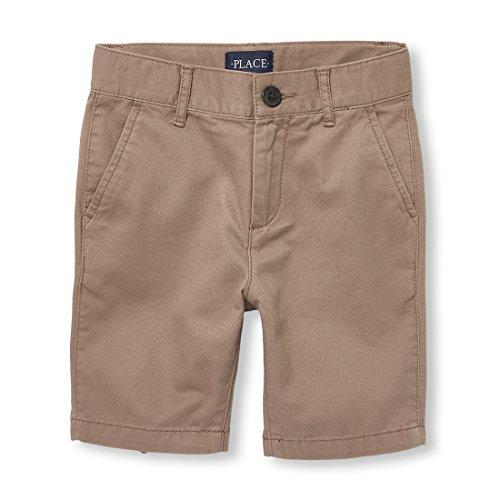 The Children's Place Big Boys' Chino Shorts, Chocolate Heart 02046, 14 -