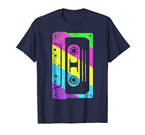 Cassette Tape Costume Shirt 80s 90s | Neon Party Wear Outfit