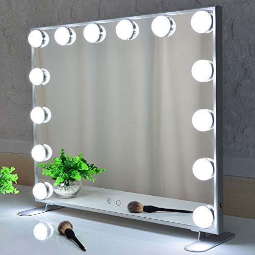 Vanity Mirror with Lights,Hollywood Lighted Mirror with Dimmer bulbs,Tabletop or Wall Mounted - Ikea Mirrors Square Stave Bathroom