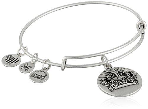Alex and Ani Queens Crown II Expandable Rafaelian Bangle Bracelet